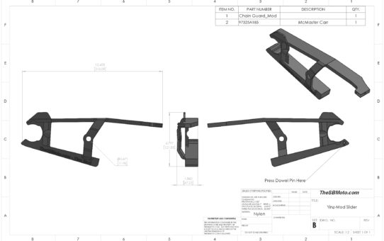 YINZ-MOD WR250R Chainslider