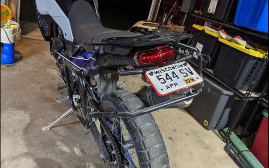Tenere 700 License plate frame (tail tidy)